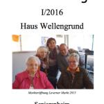 """Hauszeitung Seniorenheim """"Haus Wellengrund"""" 01/2016"""